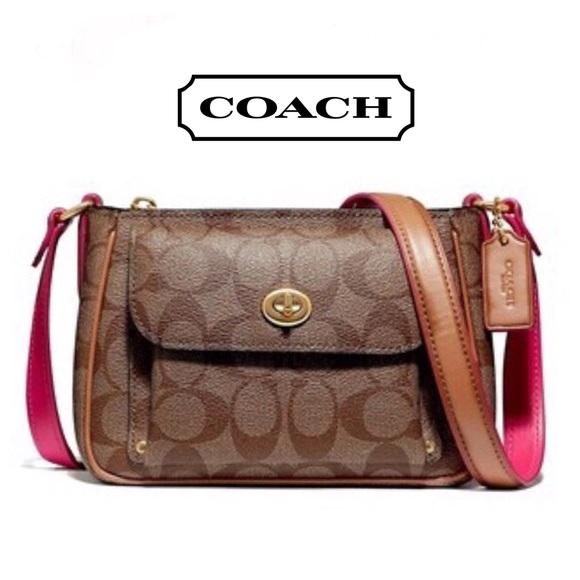 Coach Handbags - Coach Sadie Crossbody In Signature Canvas Coach